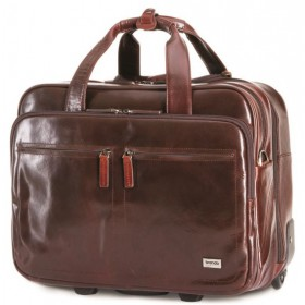 Brando Alpine Leather Laptop Trolley 15""
