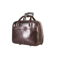 "Brando Alpine Leather Laptop Trolley 17"""