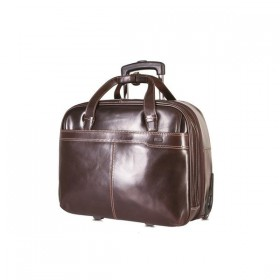 Brando Alpine Leather Laptop Trolley 17""