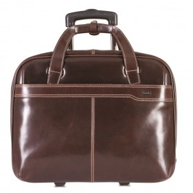 383e57bbf Brando Alpine Leather Laptop Trolley 17