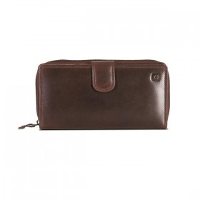 Brando Alpine Leather Zip-Around Purse