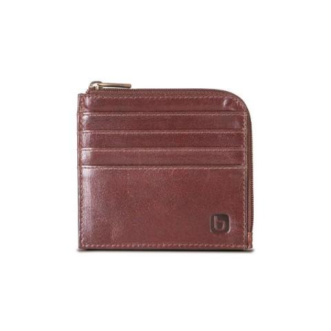 Brando Alpine Leather Zip-Around Card Wallet