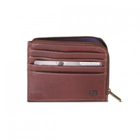Brando Alpine Leather Zip-Around Card Wallet