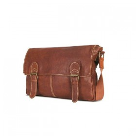 Brando Aqua Leather Messenger