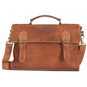 Brando Aqua Leather Laptop Briefcase 15""