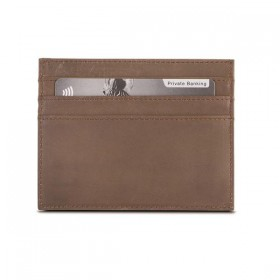 Brando Utah Leather Cardholder with Coin Pouch