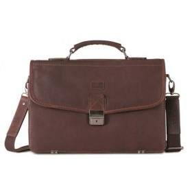 Brando Silviano Leather Flap-Over Briefcase