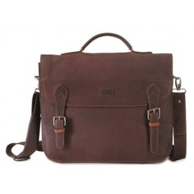 Brando Silviano Leather Slimline Flap-Over Briefcase