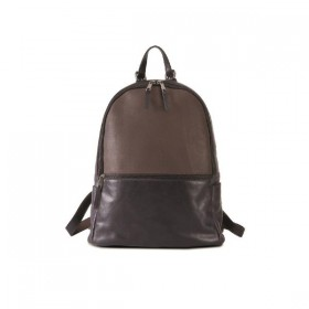 Brando Stone Leather Laptop Backpack 14""