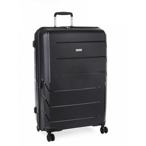 Cellini Microlite 76cm 4 Wheel Trolley Case (Black)