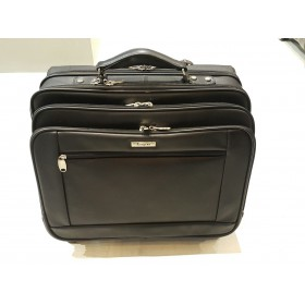 Largess Leather Laptop Trolley Bag 15""