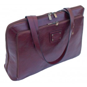 Gino De Vinci Leather Laptop Handbag