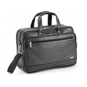 Gino De Vinci Nappa Leather Laptop Bag 15""