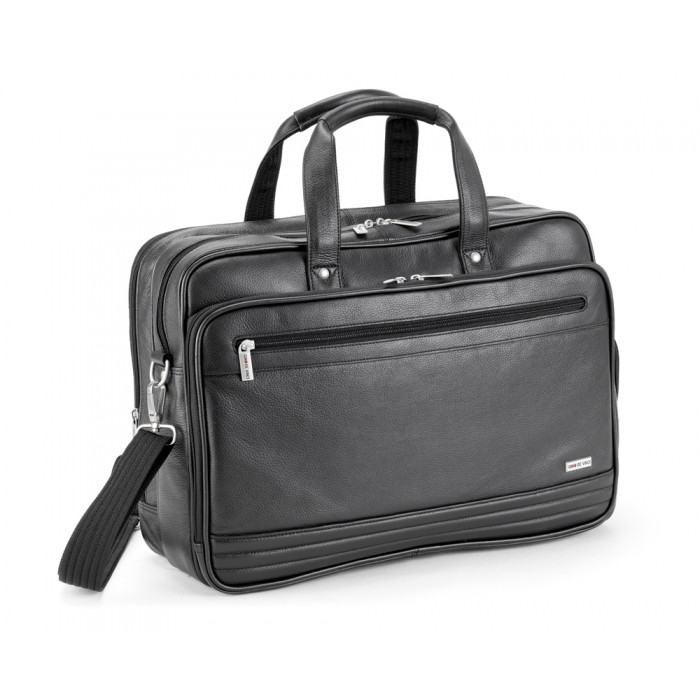 065814a04854 Gino De Vinci Nappa Leather Laptop Bag 15