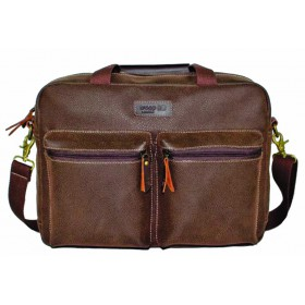 "Troop Suede 15"" Laptop bag with Pockets"