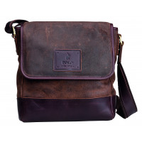 Polo Raw Oil Skin Leather Flapover Sling Bag