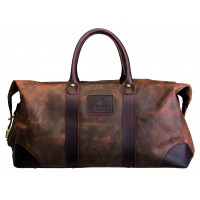 Polo Raw Oil Skin 55cm Leather Duffle