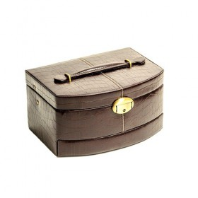 Jewellery Box Small Auto - Expresso Brown